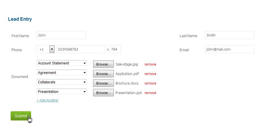 Web to Lead multiple document upload4